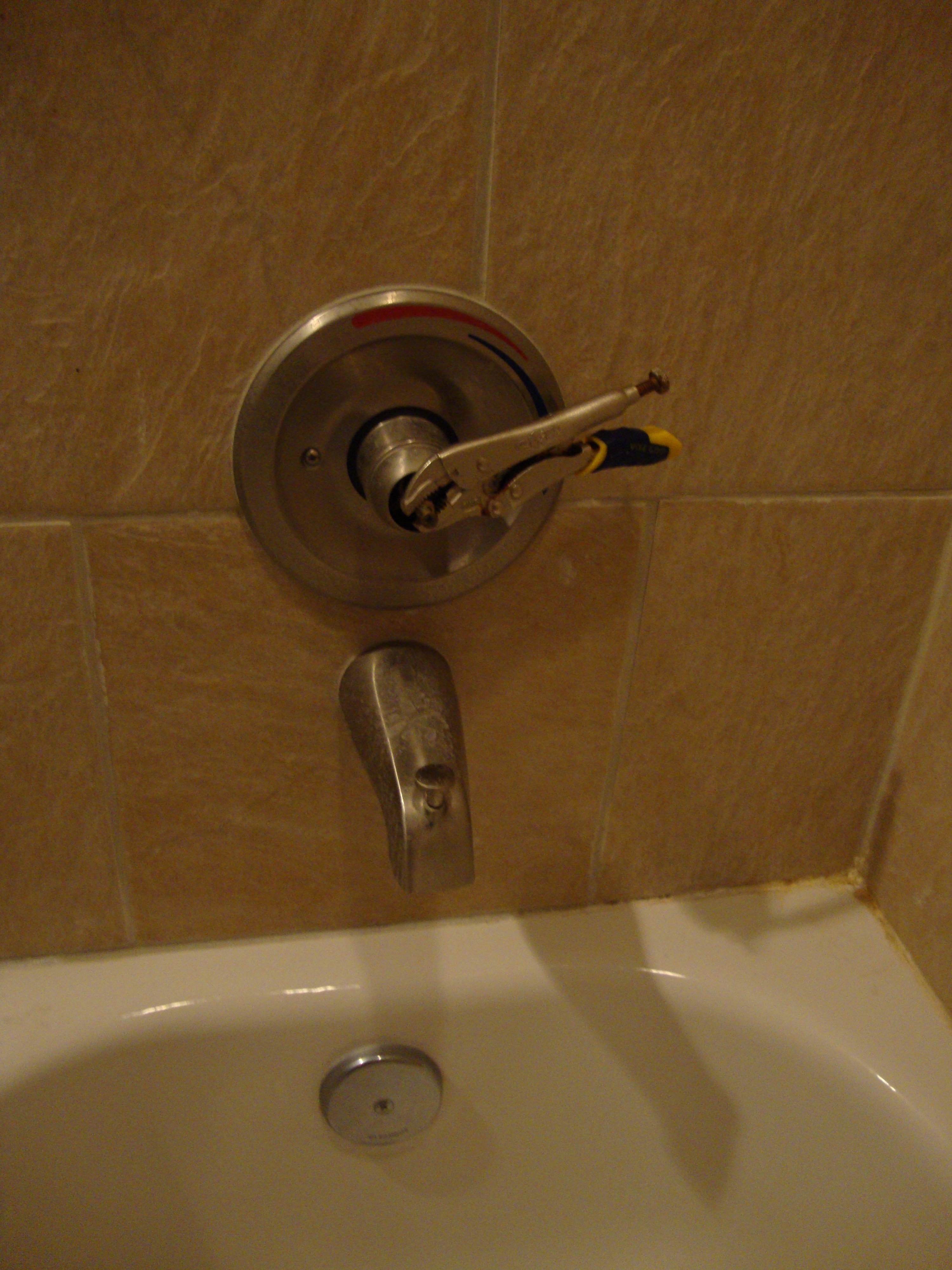 Tightening shower handle